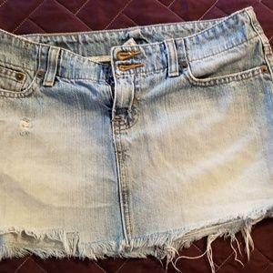 Abercrombie & Fitch, Jean mini skirt.